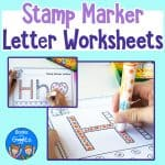 letter worksheets for stamp markers