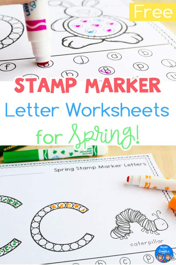 spring alphabet worksheets for stamp markers