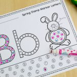 Free Alphabet Worksheets for Stamp Markers – Spring Edition