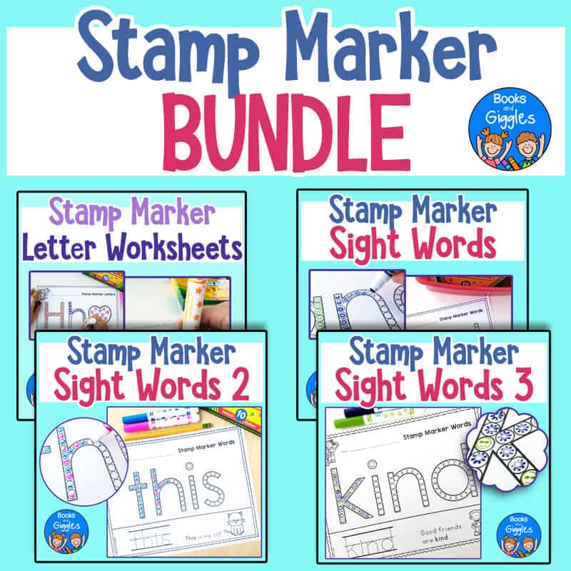bundle of stamp marker worksheets