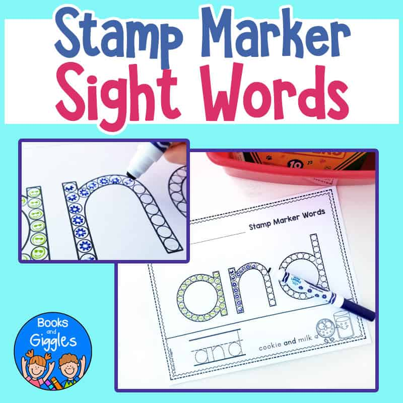 pre primer sight word worksheets for stamp markers