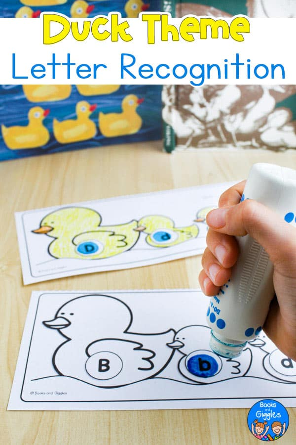 duck theme letter recognition worksheets