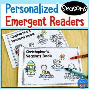 Seasons emergent readers free printable