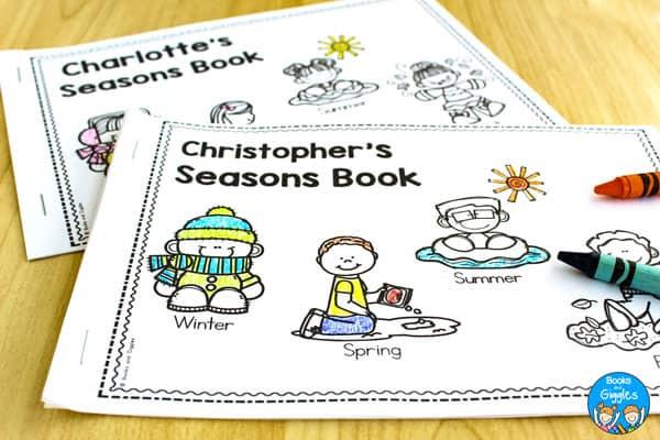 4 seasons emergent readers