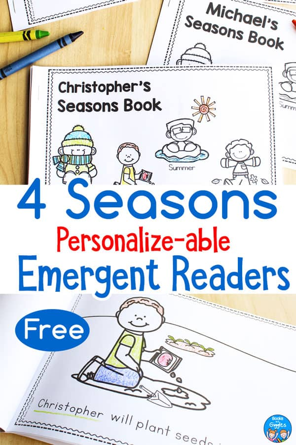 seasons emergent readers