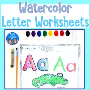 watercolor letter worksheet resource