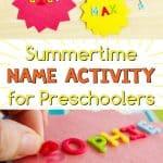 preschool name activity for summer