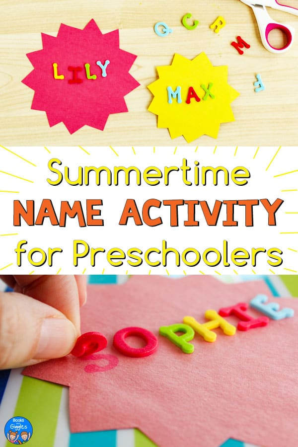 preschool name activity for summer
