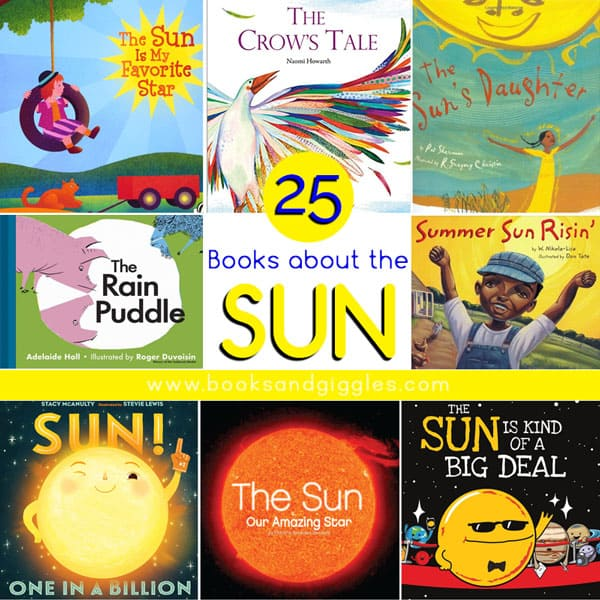 collage of books about the sun