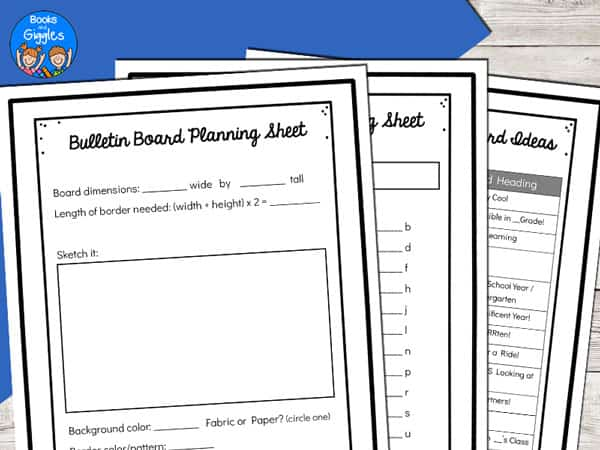 bulletin board planning sheets