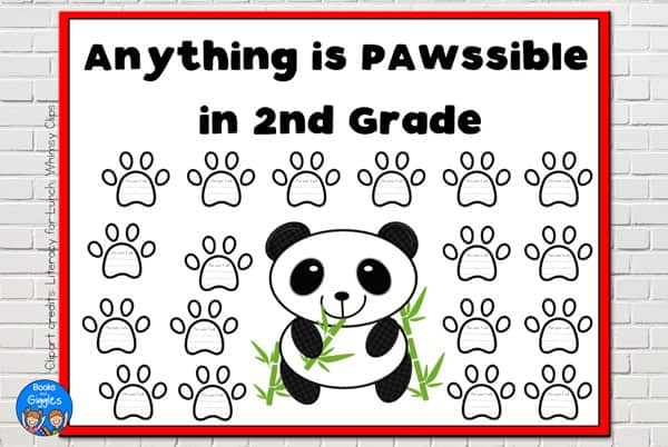 panda back to school bulletin board