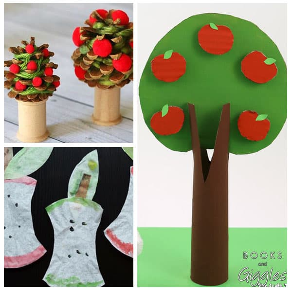 apple crafts collage
