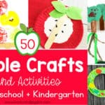 50 Apple Crafts & Activities for Preschool and Kindergarten