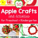 collage of apple crafts