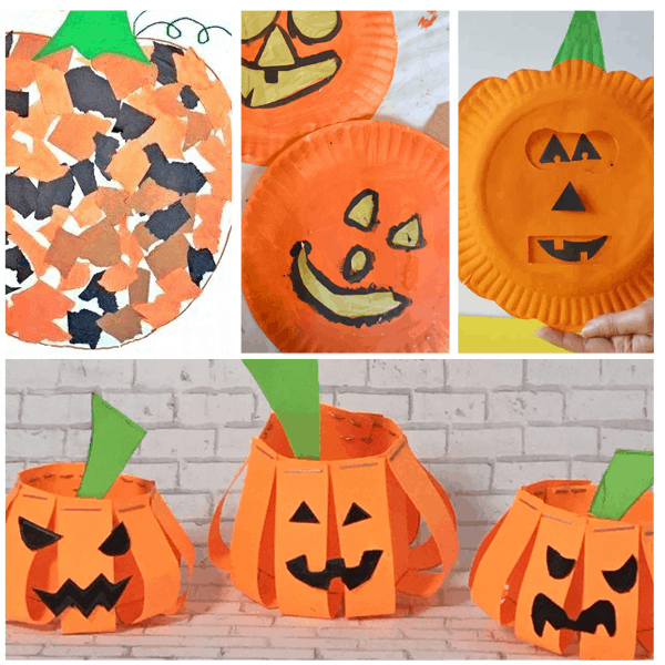 Pumpkin Crafts For Preschoolers. These preschool crafts are perfect for Halloween or Fall at home or in your classroom. They are simple crafts for kids so that both you and kids will enjoy! #halloweencraft #pumpkincraft #fallcraftsforkids #preschoolcrafts
