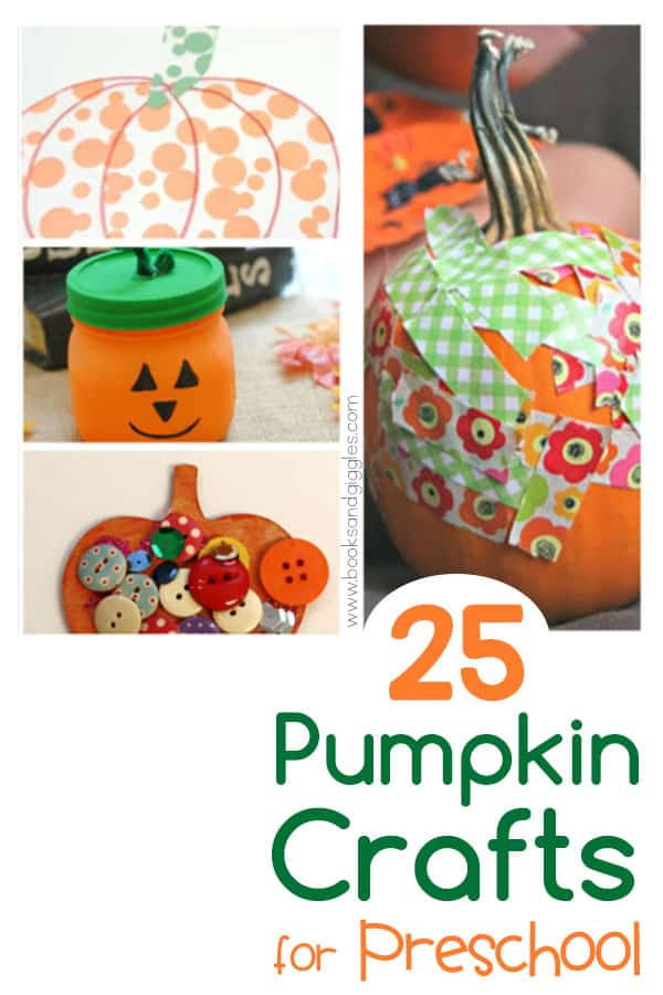 preschool pumpkin craft collage