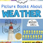 weather books preschool pin image