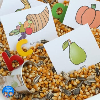 Letter recognition is FUN when there's a spinner! This Thanksgiving resource includes 3 differentiated letter and letter sound activities. Students can work on easily confused lowercase letters or on letter sounds. Use these in centers, small groups, or as morning work.