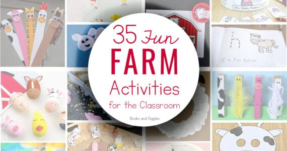 farm activities title over collage