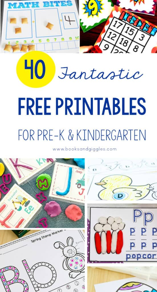 40 ENGAGING Free Kindergarten Worksheets For Home Learning