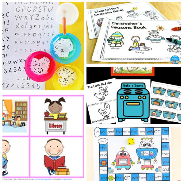kindergarten literacy worksheets