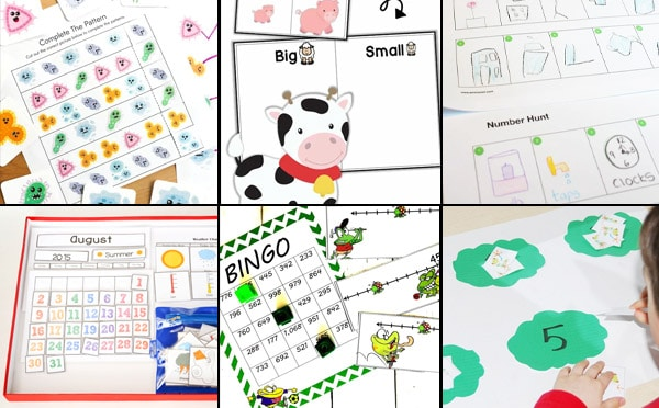 free math worksheets and printables for kindergarten and preschool