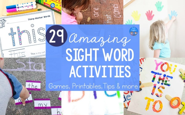 sight word activities collage