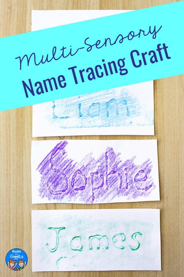 multi-sensory name tracing craft