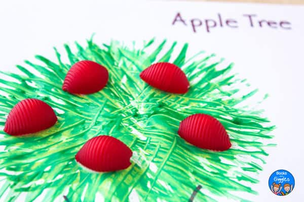 closeup of apple tree craft