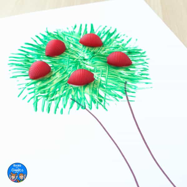 Painted apple tree craft easy enough for preschoolers