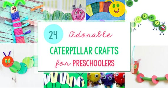 caterpillar crafts for preschoolers wide collage