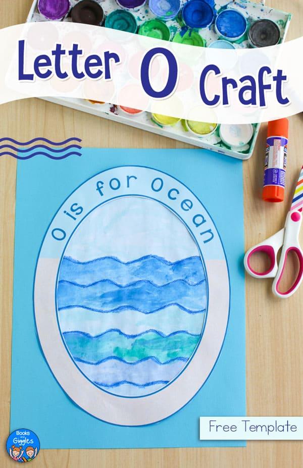 letter O craft ocean