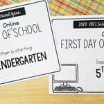 First Day of Online School Signs {Free Printable}