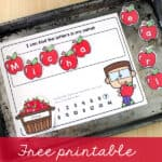 Free printable apple name activity