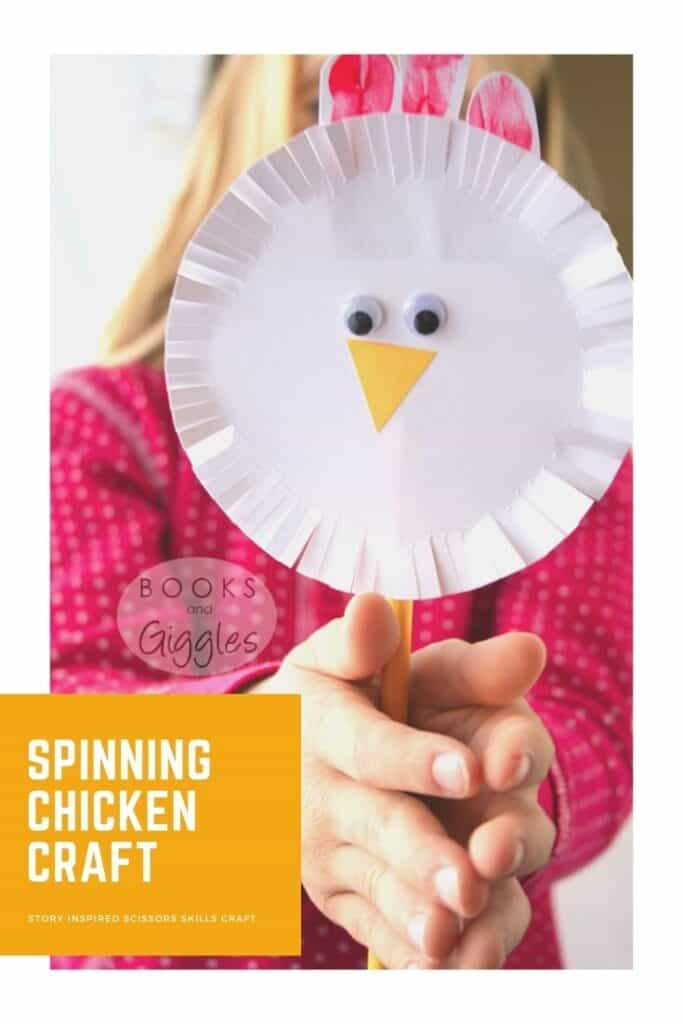chicken craft with title text