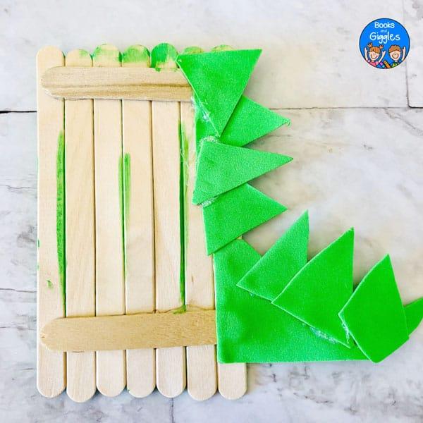 back of dinosaur craft