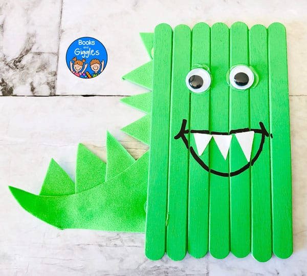 green dinosaur craft