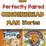 gingerbread man books title collage