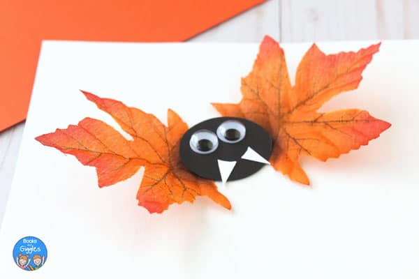Bat craft with orange leaf wings