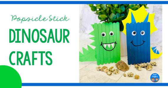 popsicle stick dinosaur crafts