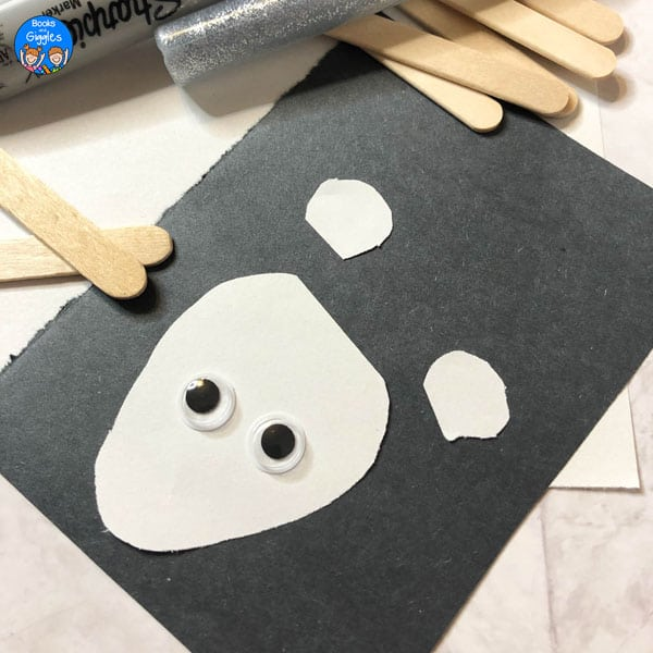 materials for popsicle stick polar bear craft