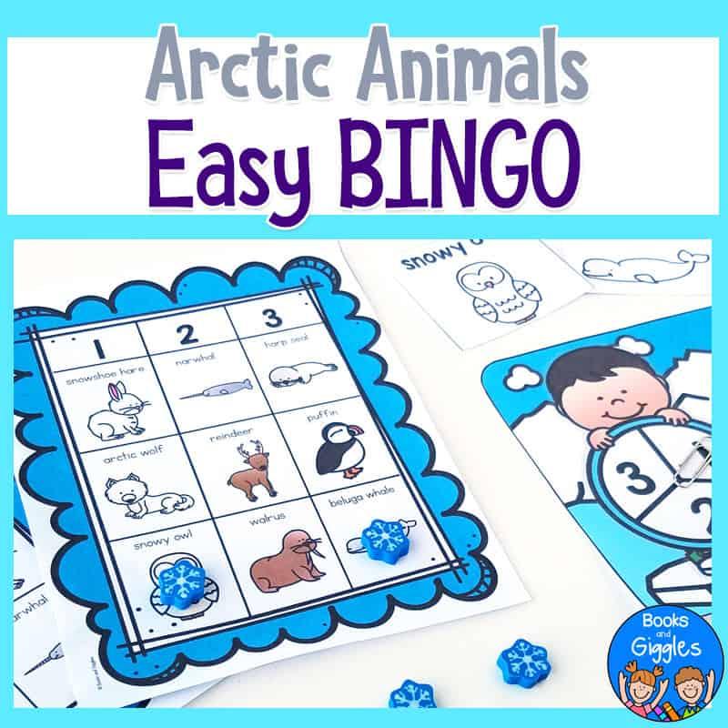 arctic animals BINGO activity