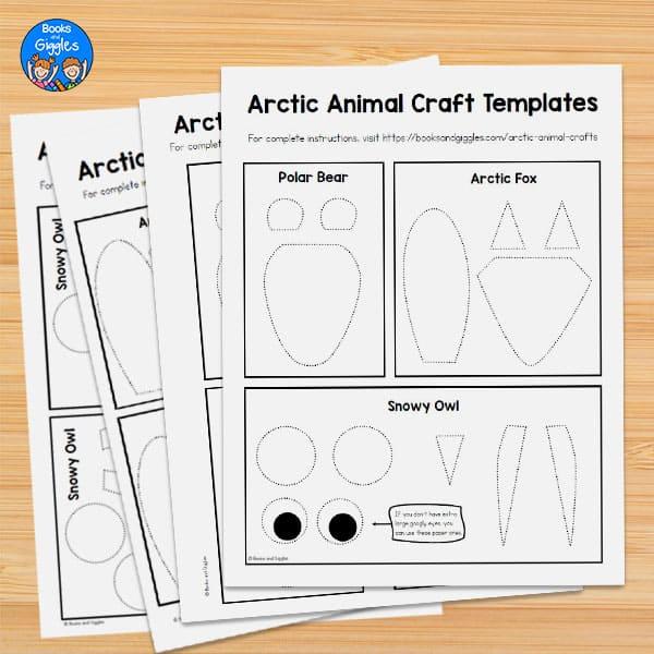 arctic animal craft templates printouts