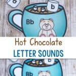 Hot Chocolate Letter Sounds title with pictures of the activity