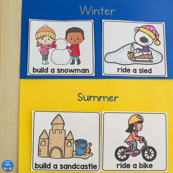 sorted summer and winter cards