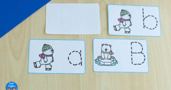winter letter tracing activity