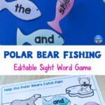 polar bear sight word game
