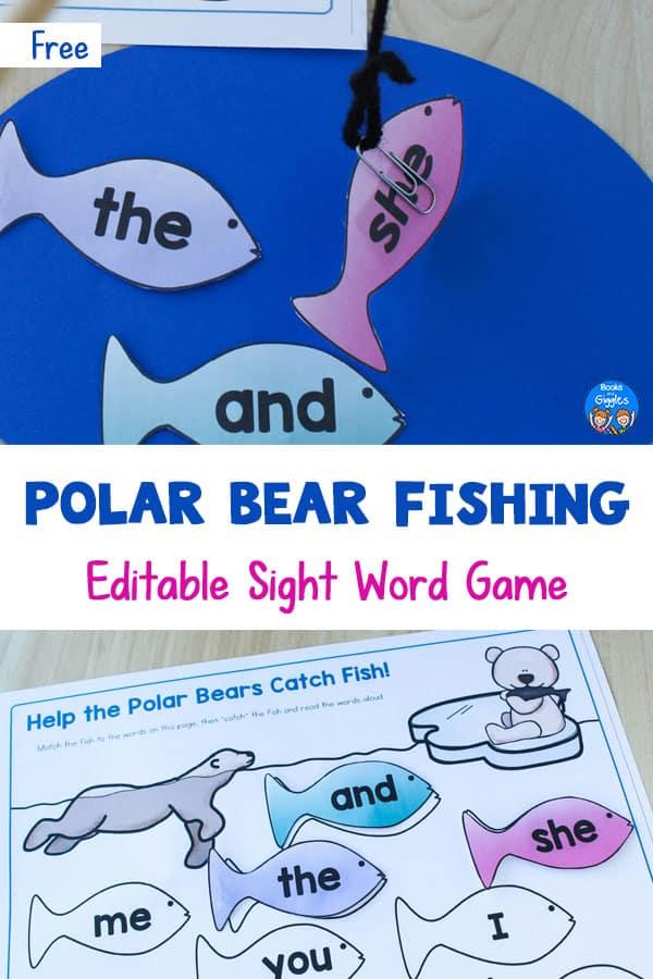 polar bear sight word activity