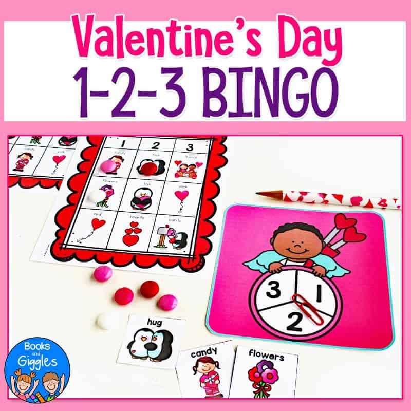 valentine's day bingo activity