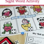 Valentine's Day Sight Word Activity shown in action
